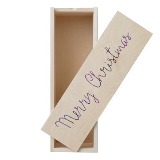 Purple and Pink Merry Chistmas Snowflakes Wooden Keepsake Box
