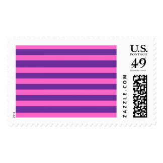 Purple and Pink Painted Flowers Stamps