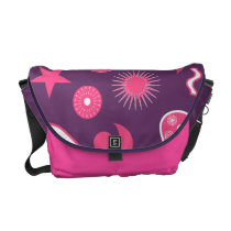 Purple and Pink Paisley Wizard Courier Bag