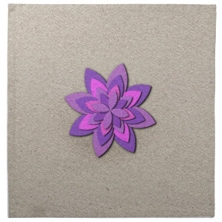 Purple and Pink Paper Flower Cloth Napkins