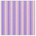 [ Thumbnail: Purple and Pink Pattern of Stripes Fabric ]