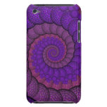 Purple and Pink Peacock Feather Fractal Barely There iPod Case