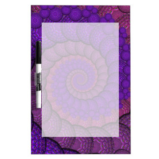 Purple and Pink Peacock Feather Fractal Dry-Erase Board