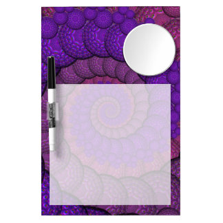 Purple and Pink Peacock Feather Fractal Dry Erase Boards
