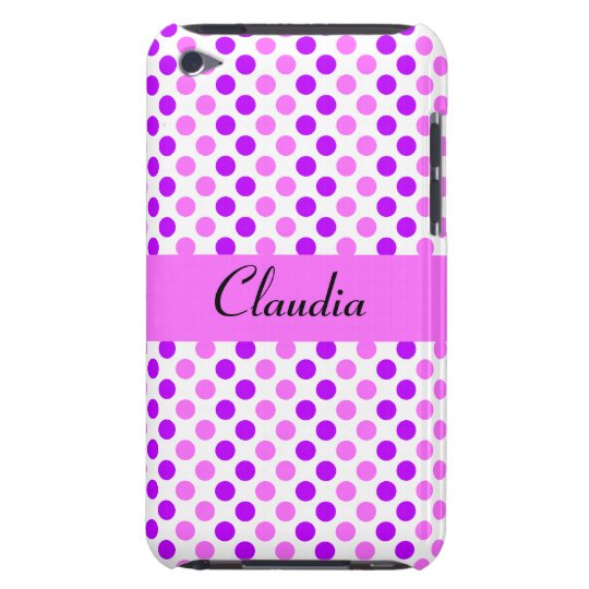 Purple and Pink Polka Dots iPod Touch Case