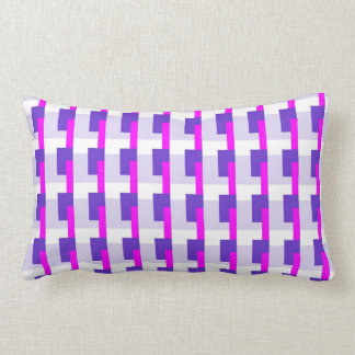 Purple and Pink Rectangles Pillows
