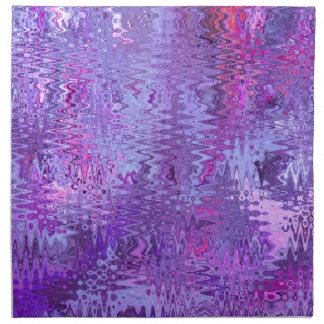 Purple and Pink Ripple and Abstract Design Pattern Cloth Napkins