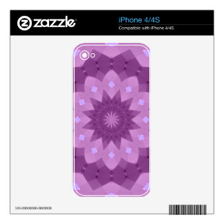 Purple and Pink Rosette Skins For The iPhone 4