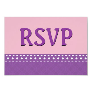 Purple and Pink RSVP Stitches Polka Dots V10W Card