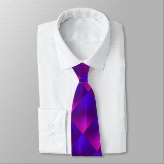 Purple and Pink Shimmer Blocks Neck Tie