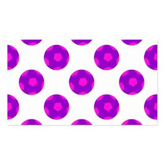 Purple and Pink Soccer Ball Pattern Business Card