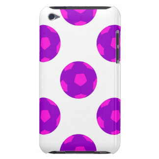 Purple and Pink Soccer Ball Pattern iPod Touch Cases