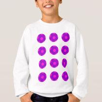Purple and Pink Soccer Ball Pattern Sweatshirt