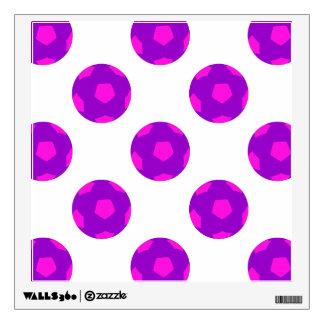 Purple and Pink Soccer Ball Pattern Wall Sticker