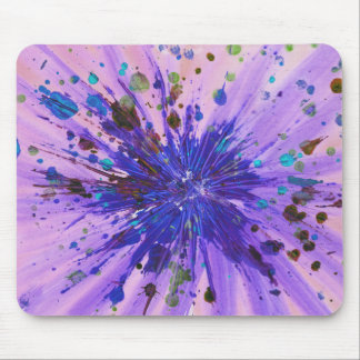 Purple and Pink Star Abstract Art Acrylic Painting Mouse Pad