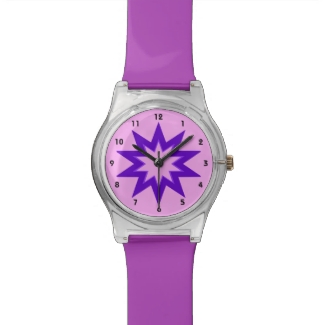 Purple and Pink Star Watch