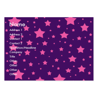 purple and pink stars large business cards (Pack of 100)