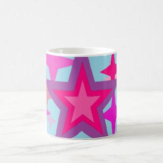 Purple And Pink Stars Coffee Mug