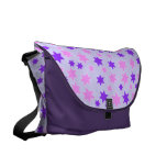 Purple and Pink Stars Courier Bags