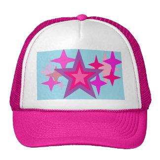 Purple And Pink Stars Hat