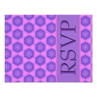 Purple and Pink Stars Wedding RSVP Card