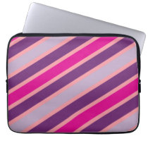 Purple and Pink Stripes Moderen Pattern Laptop Sleeve