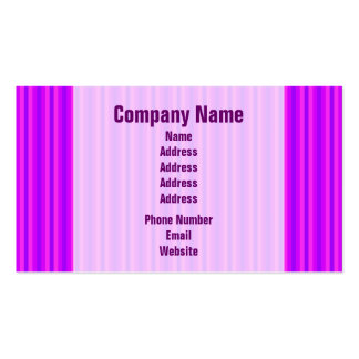Purple and Pink Stripey Hippie Pattern Business Card