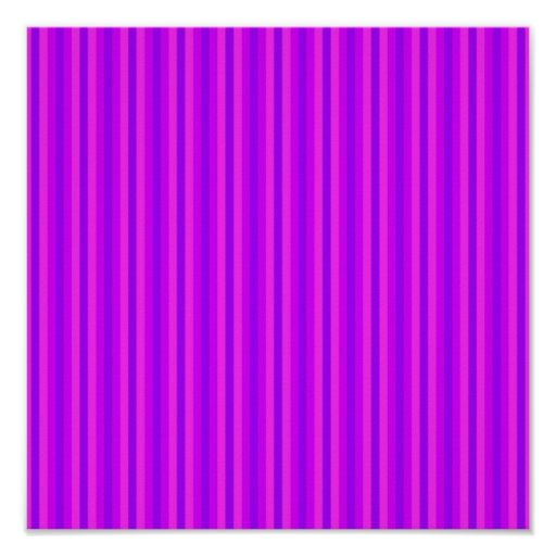 Purple and Pink Stripey Hippie Pattern Posters