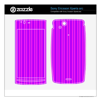 Purple and Pink Stripey Hippie Pattern Xperia Arc Skins