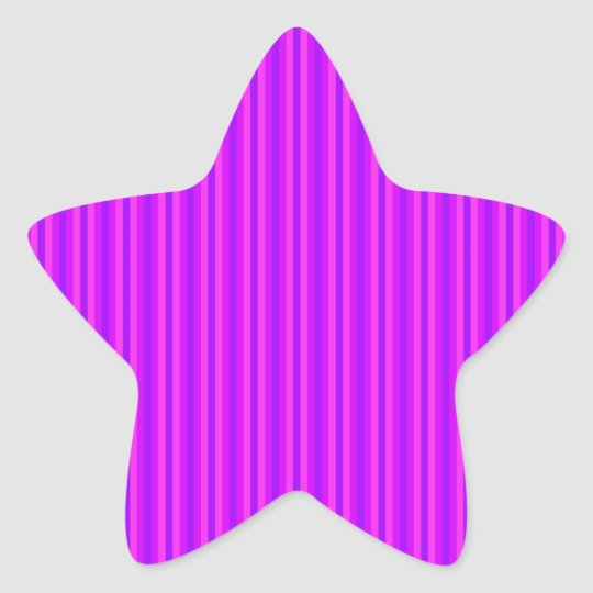 Purple and Pink Stripey Hippie Pattern Star Sticker