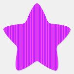 Purple and Pink Stripey Hippie Pattern Stickers