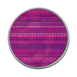 Purple and Pink Stripy Stars and Spots Pattern Jelly Belly Candy Tin
