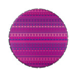 Purple and Pink Stripy Stars and Spots Pattern Candy Tin