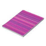 Purple and Pink Stripy Stars and Spots Pattern Memo Notepad