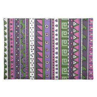 Purple and Pink Tribal Pattern Placemat