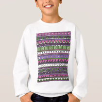 Purple and Pink Tribal Pattern Sweatshirt