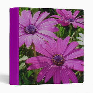 Purple And Pink Tropical Daisy Flower Binder