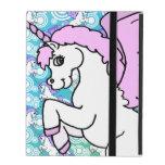 Purple and Pink Unicorn Pattern iPad Cases
