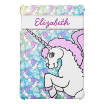 Purple and Pink Unicorn Pattern iPad Mini Cover