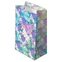 Purple and Pink Unicorn Pattern Small Gift Bag