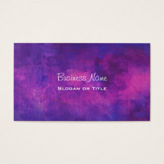 Purple and Pink Watercolor Abstract Background Business Card