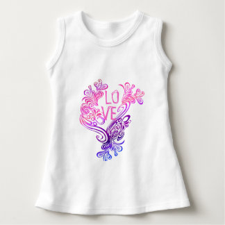 Purple and Pink Waves of Love Dress