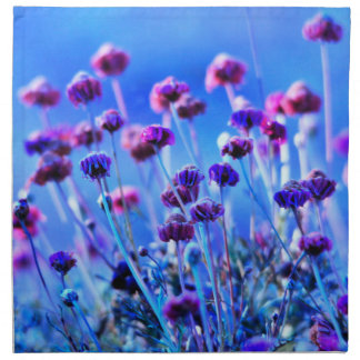 Purple and Pink Wildflowers Cloth Napkins