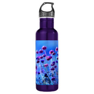 Purple and Pink Wildflowers 24oz Water Bottle