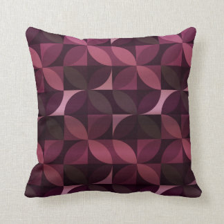 Purple and Plum Modern Pattern Throw Pillow