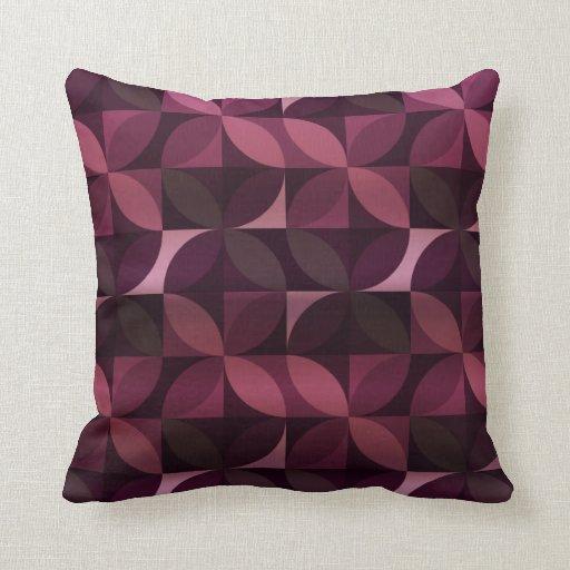 Modern Purple Throw Pillow : Purple and Plum Modern Pattern Throw Pillows Zazzle