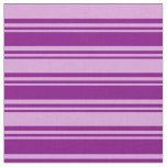 [ Thumbnail: Purple and Plum Stripes/Lines Pattern Fabric ]