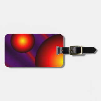 Purple and Red Abstract Luggage Tag