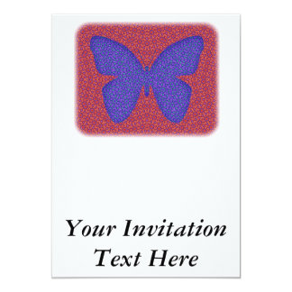 Purple and Red Butterfly Card