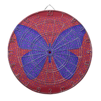 Purple and Red Butterfly Dartboards